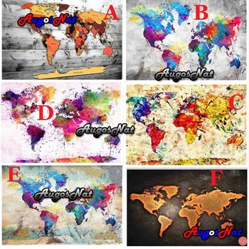 landscape 5d large diamond painting world map daimond embroidery full square resin beads picture puzzle diamand mosaic stickers image