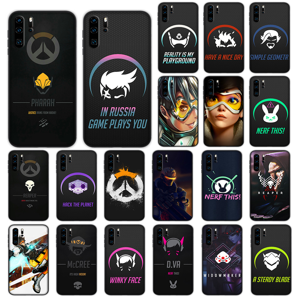 US $2 3 23% OFF|Overwatch Game Soft Case for Huawei P30 P20 P10 Lite Pro P  Smart 2019 Cover-in Fitted Cases from Cellphones & Telecommunications on
