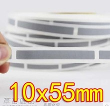 10x55MM - Sliver Gray Scratch coating film scratch card stickers-1000pcs /roll