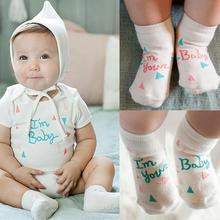 0 4Y Newborn Baby Socks Kids Cute Words Pattern Warm Cotton Soft Socks