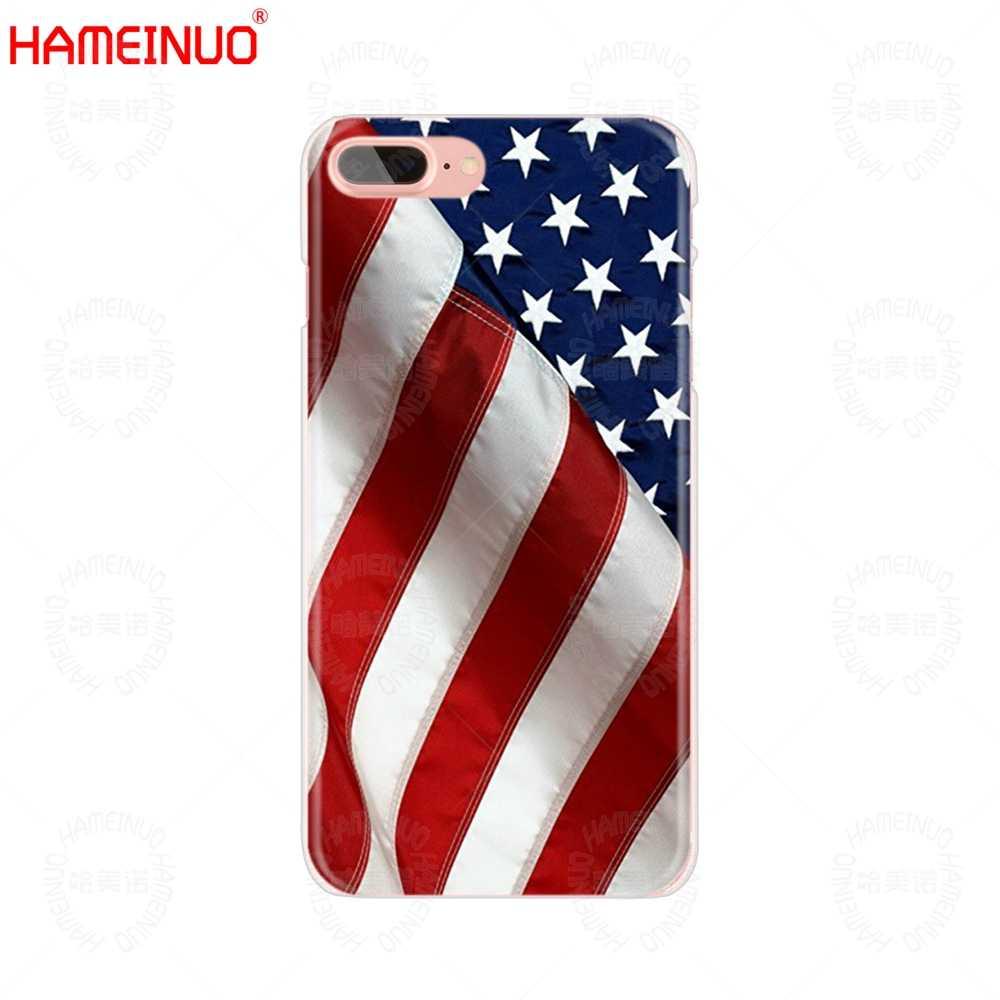 HAMEINUO orły pod banderą usa stany zjednoczone ameryki telefon komórkowy pokrywy skrzynka dla iphone X 8 7 6 4 4S 5 5S SE 5c 6 s plus