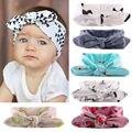 Bonito Da Criança Do Bebê Da Menina Bowknot Coelho Flor Faixa de Cabelo Headband do Turbante Headwear