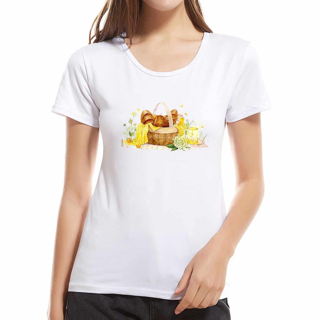Vagarytees جديد الأزياء الإبداعية طباعة المرأة قميص محب خمر الثعلب المحملة قصيرة الأكمام س الرقبة عارضة قمم الطفل الأم A501