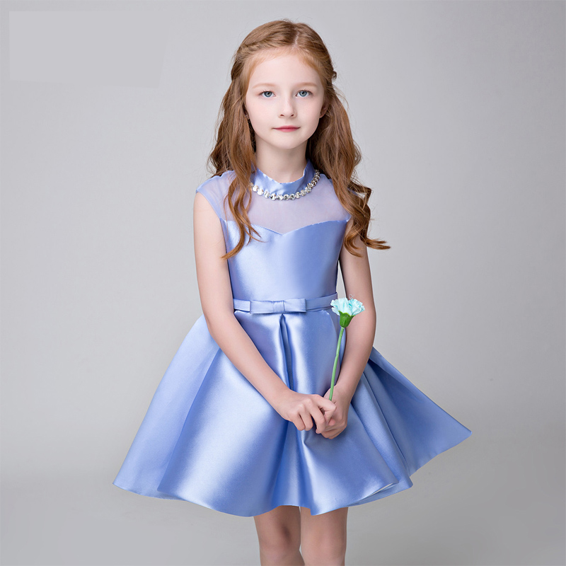 Fashion Sweet Princess Lace Cute Hollow Out Kids Dress For Girls Prom Party Dress Summer 2017 Wedding Flower Girls Dress P44 2017 new girls party baby children summer sleeveless lace princess wedding dress 2 4 6 8 10 year old fashion flower girls dress