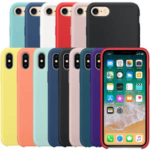 With Logo Silicone Phone Case For iPhone 7 6 8 Plus Official Cover For Apple Cases