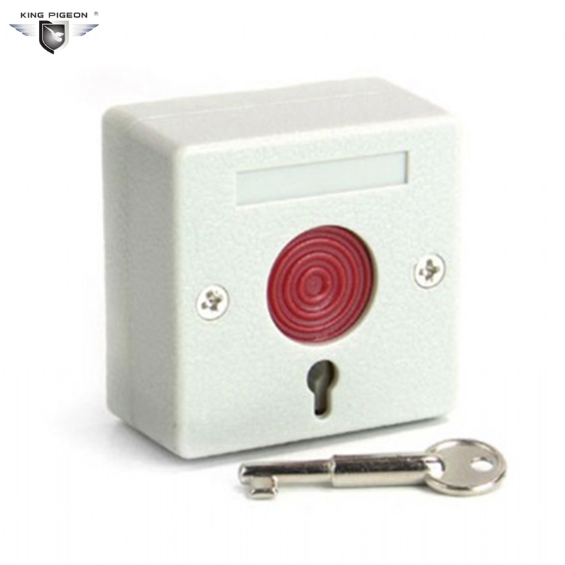 Wired Emergency Button Wired Panic Button 3 Static Current Can work with GSM Alarm Panel Control Communication EM-01 2pcs ...
