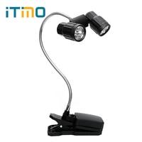 ITimo Için Ayarlanabilir Mini LED Kitap Işıklar Parlak Kamp Balıkçılık clip-Okuma Masa Lambası Esnek BARBEKÜ Işık LED klip Işık