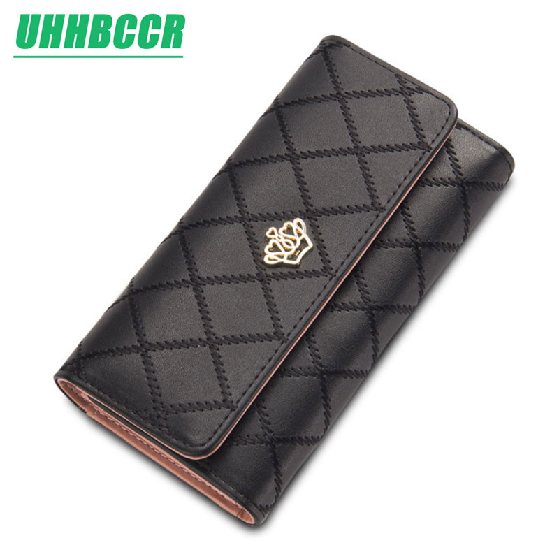 Hot sale new fashion high capacity women wallets metal crown lady long clutch wallet female PU leather flip up card holder purseHot sale new fashion high capacity women wallets metal crown lady long clutch wallet female PU leather flip up card holder purse