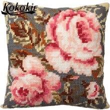 Diy cross stitch kits For Embroidery kit flower pattern cush