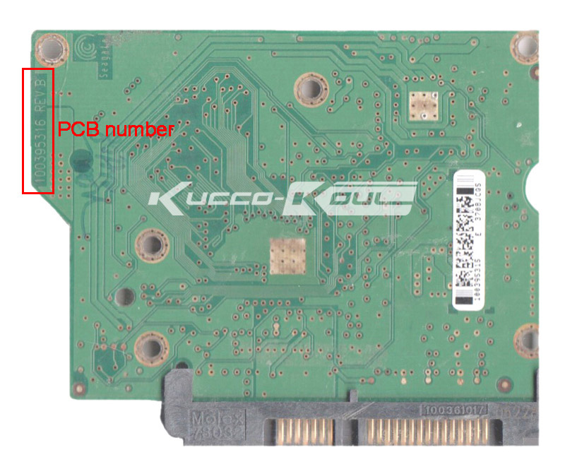 Hard Drive Parts PCB Logic Board Printed Circuit Board 100395316 For Seagate 3.5 SATA Hdd Data Recovery ST3120211AS