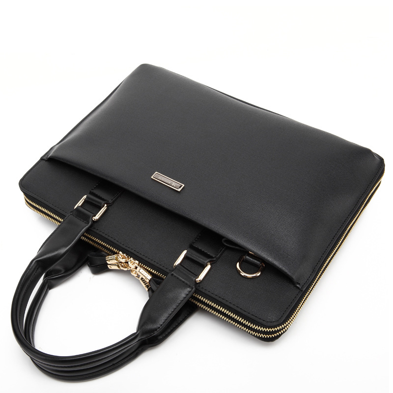 New Luxury Cow Genuine Leather Business Men's Briefcase Real Natural Leather Shoulder Bag Men Messenger Tote Computer Bag Brand