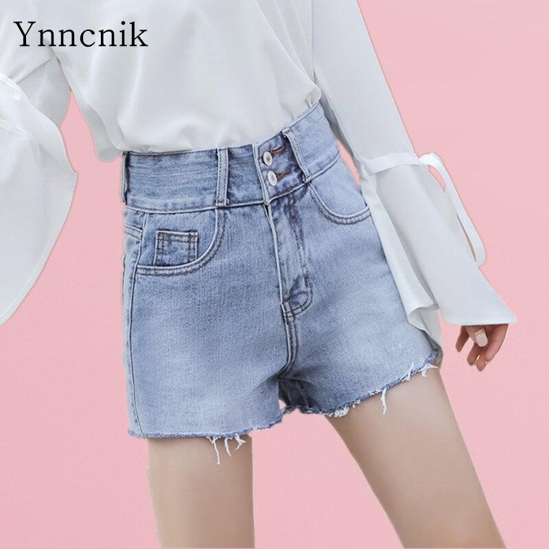 Ynncnik Ripped Jeans Women Solid Holes Skinny Denim Pencil