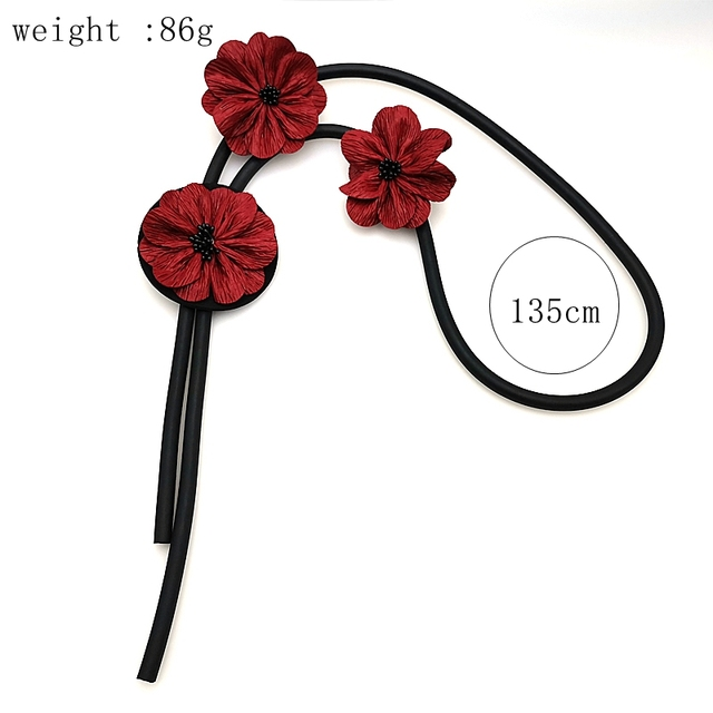 Simple Wedding Gift Red Flowers Dress Accessories Necklace55