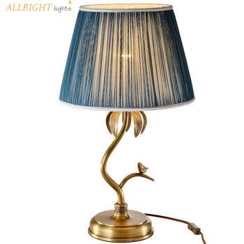 วัสดุทองแดงยุโรปสไตล์ตารางโคมไฟตกแต่งใหม่สำหรับห้องนอน livingroom ฟรีจัดส่ง
