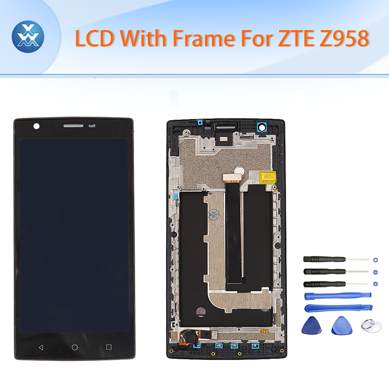 Original pantalla lcd para zte z958 lcd touch screen digitizer + montaje del mar