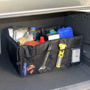 Image 1 - Органайзер для заднего сиденья автомобиля, многоцелевой держатель, сумка для хранения, универсальная складная сумка для укладки, аксессуары для интерьера багажника