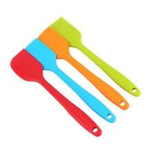Силиконовый шпатель, домашний кухонный инструмент для приготовления пищи, для торта, крема, масла, посуда, силиконовый шпатель, для улицы, принадлежности для барбекю, инструмент для выпечки