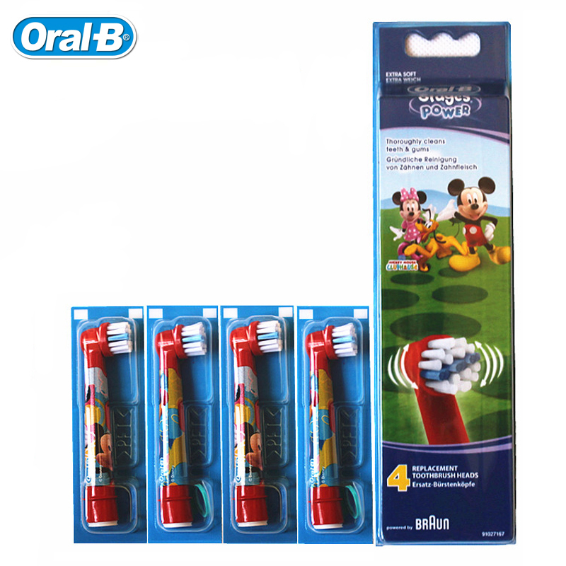 Oral BEB10 Toothbrush Replacements for Children Electric toothbrush D12 D10 DB4510 Soft Bristle 2 heads or 4 heads image