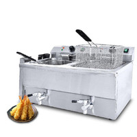 BEIJAMEI 8LFE 2 Industrial Countertop Frying Machine Commercial Electric Potato Chips Deep Fryer Machine 2 basket