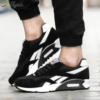 Мужские дышащие кроссовки Mhysa, повседневная обувь для взрослых в Корейском стиле, модные кроссовки, размер 46