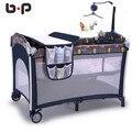 Многофункциональный складной кровати кровати детская кровать BB портативных игр континентальный ребенка кровать колыбель кровать с колесами