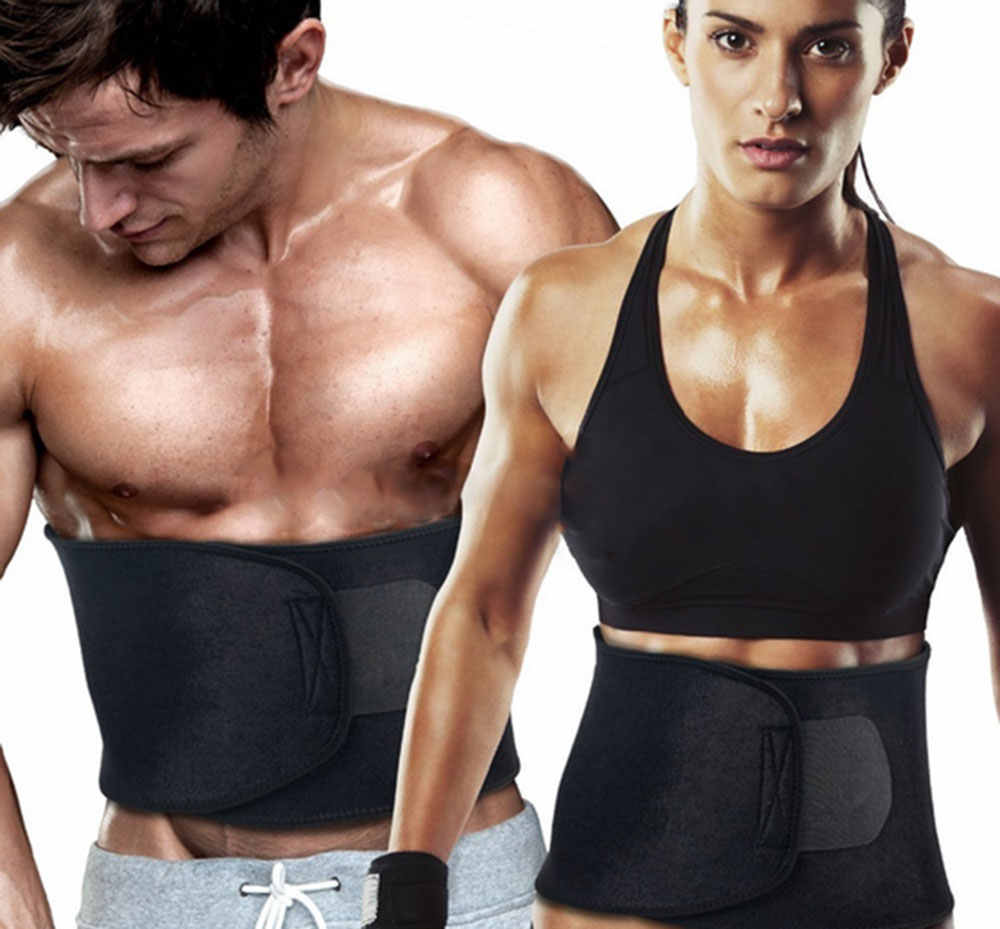 a7e8ce7747822 Adjustable Waist Trimmer Sweat Slimming Belt Fat Burner Body Shaper Slim  Body Burn Exercise Girdle Weight