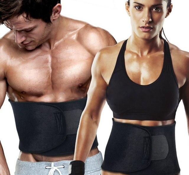 Ajustable cuerpo Shaper adelgazamiento cinturón de cintura entrenador corsé Fitness sudor faja fajas de los hombres y las mujeres quemar grasa ejercicio faja