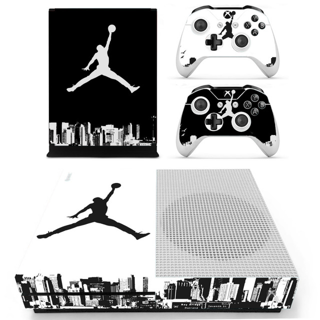 9d0b2a72b8eb Air Jordan Skin Sticker Decal For Microsoft Xbox One S Console and 2  Controllers For Xbox One S Skin Sticker Vinyl