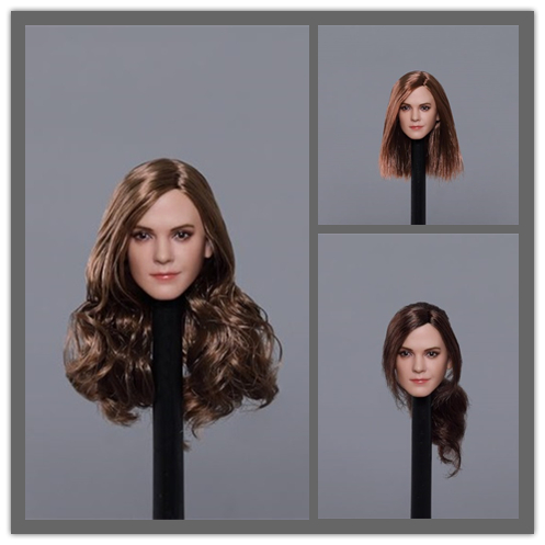 1/6 Scale Emma Watson Head Sculpt 3 kinds  Long Curls Hair  Long straight hair Ponytail Fit for 12 inches Femal body1/6 Scale Emma Watson Head Sculpt 3 kinds  Long Curls Hair  Long straight hair Ponytail Fit for 12 inches Femal body
