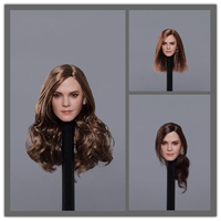 1/6 Scale Emma Watson Head Sculpt 3 kinds Long Curls Hair Long straight hair Ponytail Fit for 12 inches Femal body