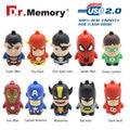 Hot !Pen Drive Genuine 4G 8G 16 32G USB 2.0 USB Flash Drive Flash Memory PenDrive Cartoon Character superman batman USB Drive
