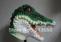 2013 Hot bán Full đầu Awesome Crocodile Mask Impressive đạo cụ trang phục Realisic Halloween đạo c