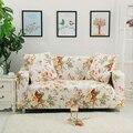 Tampa do sofá com flores barato pattren 100% poliéster tecido tampa do sofá, trecho tampas da mobília, sofá cobre extensão universal