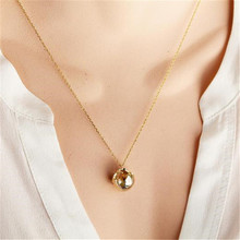3D Earth Pendant World Map Circle Necklace Women's Clothing & Accessories Gold Chain Necklace Metal Earth Pendant Choker Jewelry world map necklace pendant 3d planet earth pendant world necklace gold earth accessories women men maxi choker boho jewelry