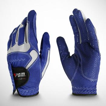 Rękawice golfowe męskie rękawiczki Micro fibre miękki biały niebieski gery 3 kolor lewa ręka antypoślizgowe antypoślizgowe cząstki oddychająca rękawica golfowa tanie i dobre opinie Tkaniny D1YST017 piece 0 05kg (0 11lb )
