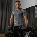 2016 Compression stringer lycra fabric  fitness equipment fitness T-shirt shirt is stronger singlet Y   shirts