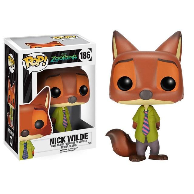 Funko Pop filme nick wilde zootopia figurinhas brinquedos 2016 novo Flash Juddy Hoppps Mr Big Finnick figurativa de vinil Vinyl figure