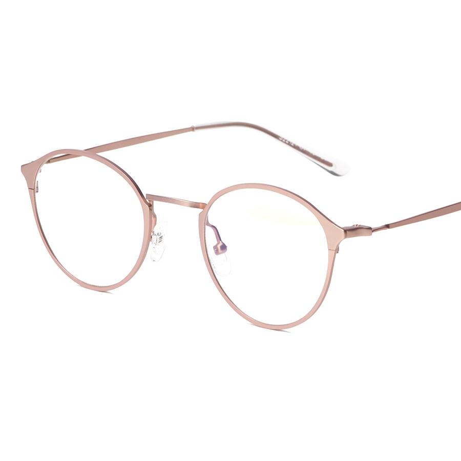 Contain Rose Gold Full Alloy Retro Eyewear Frame Men Women