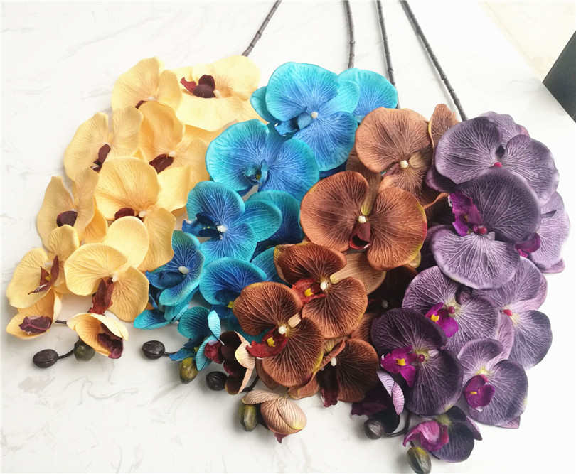 18pcs Moth Orchids Phalaenopsis Orchid Big Orchid Flower Head 10 heads Piece 4 Colors for Wedding