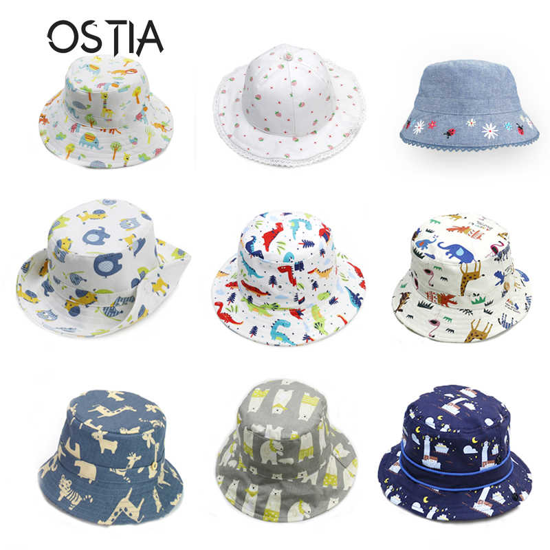 304bb551 OSTIA Baby Summer Hat Cap 2018 Animal Kids Sun Hat For Girl Boys Bucket Cap  For