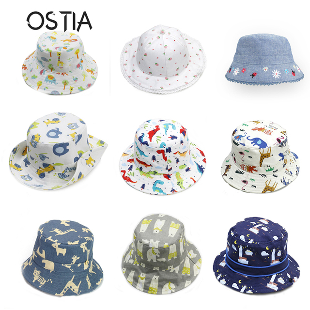 722acb71b8acf5 OSTIA Baby Summer Hat Cap 2018 Animal Kids Sun Hat For Girl Boys Bucket Cap  For