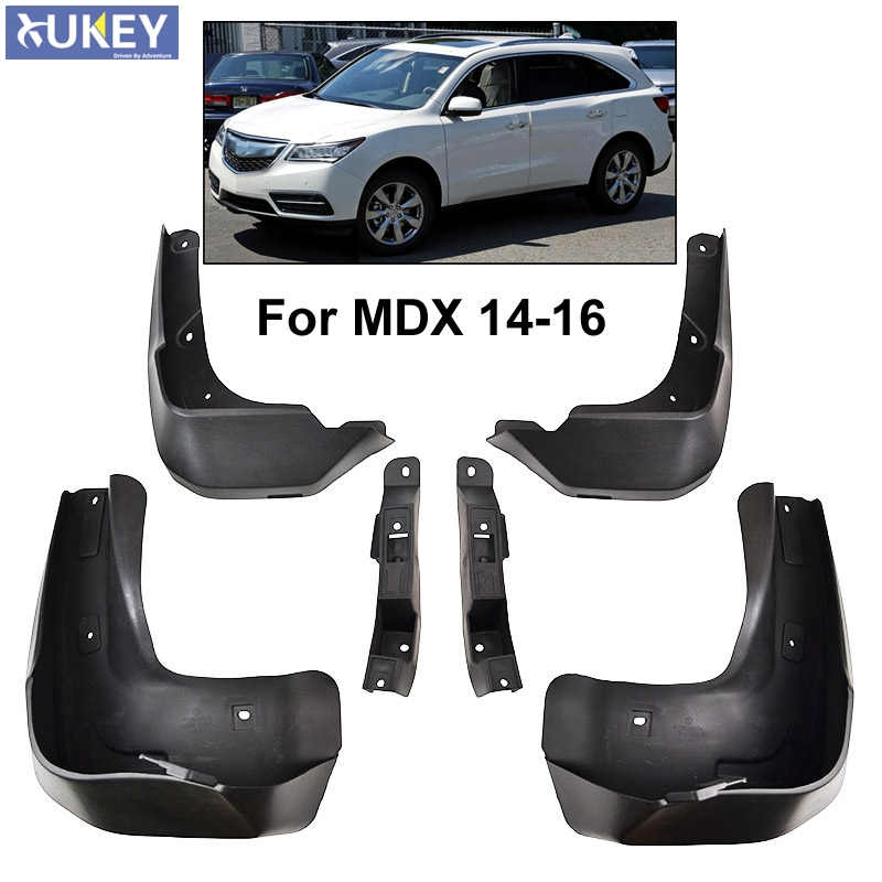 Set Molded Car Mud Flaps For Acura MDX 2014 2015 2016
