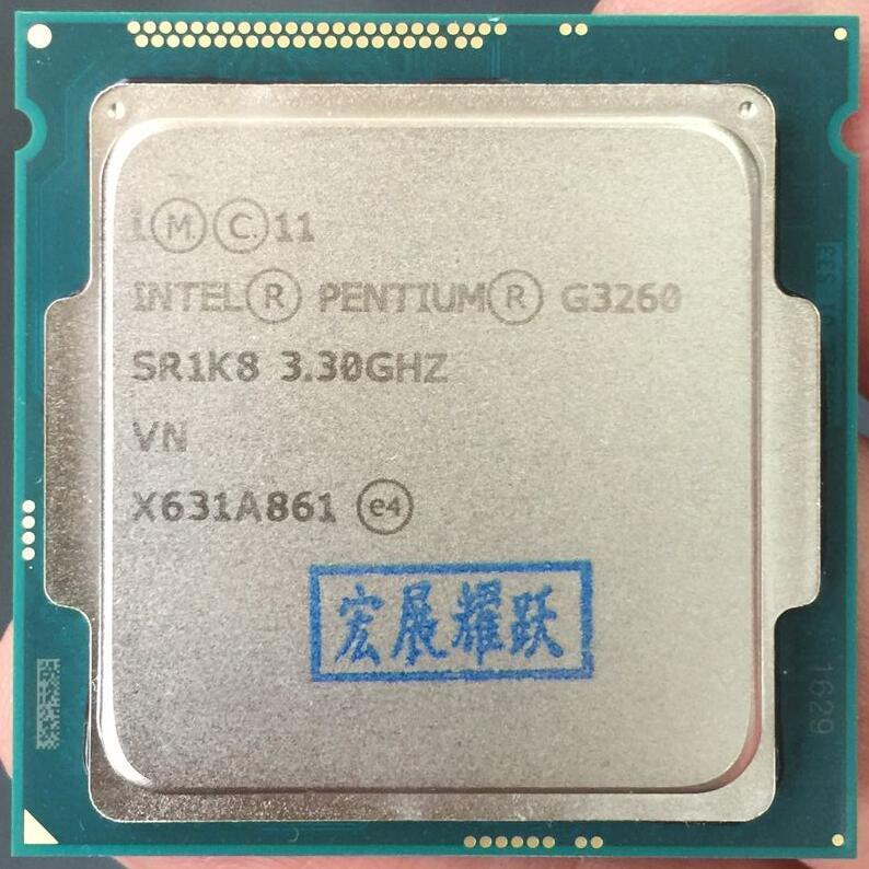Intel Processor Processor G3260 LGA1150 22 nanometers Dual-Core 100% working properly Desktop Processor processor description languages 1