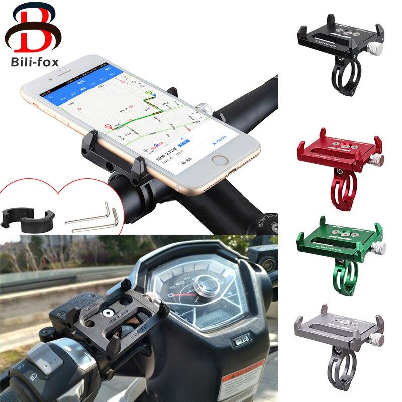 imágenes para Accesorios Para bicicletas Bike Motocicleta de La Bicicleta Mount Teléfono Soporte Metálico Del Teléfono Móvil para Huawei Xiaomi Samsung Teléfono Móvil GPS