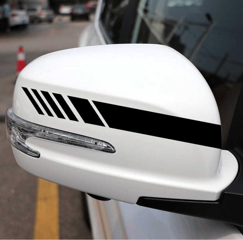 2 Pcs Mobil Styling Kaca Cermin Stiker Dekorasi Aksesoris untuk BMW E36 E46 E90 E39 E30 F10 F20 X5 E53 e70 E87 E34 E92 M
