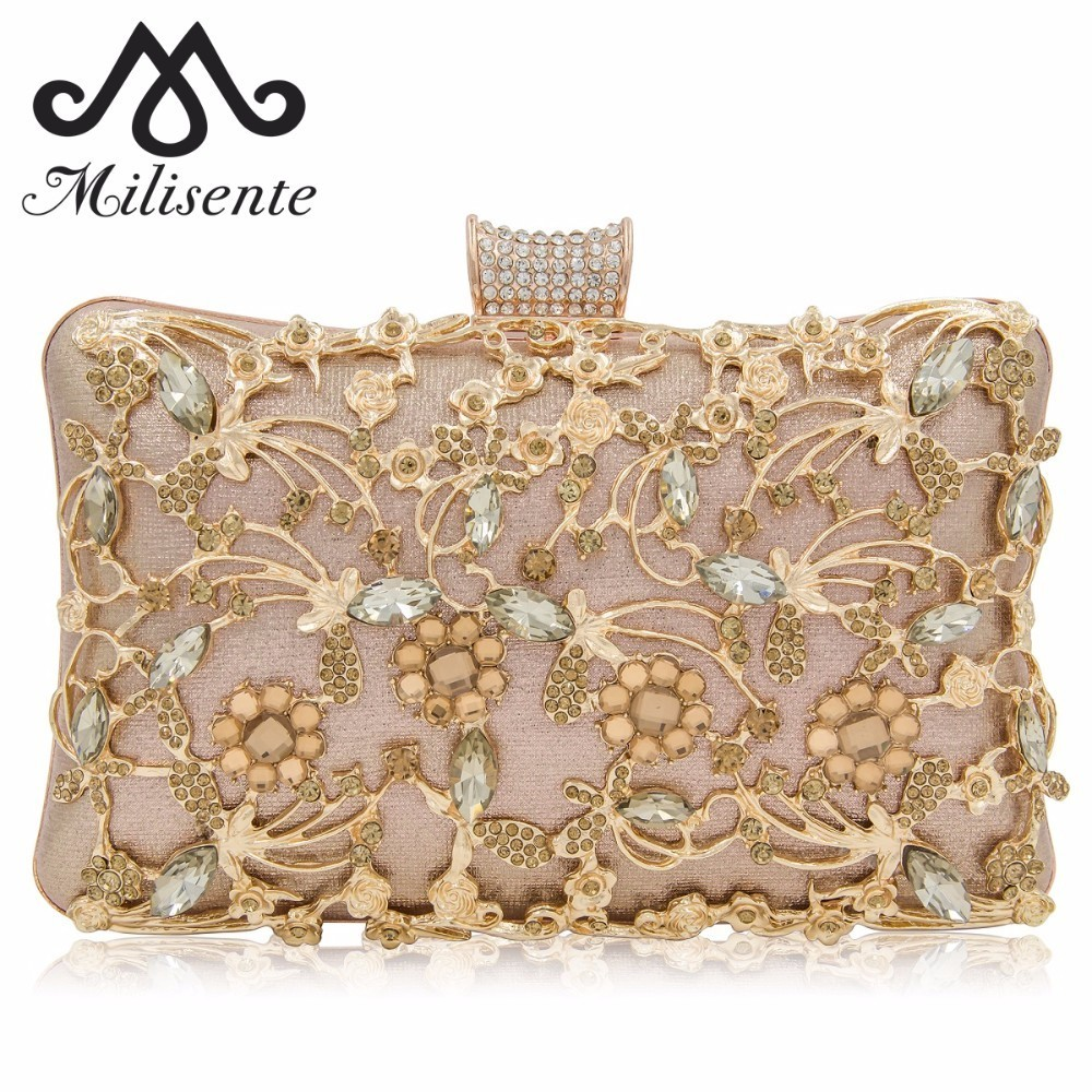 Milisente 2018 New Box Clutches Women Clutch Purse Top Quality Ladies Evening Bags Female Wedding Bag milisente brand women evening bags top quality fantasy rose party purse clutches wedding bag
