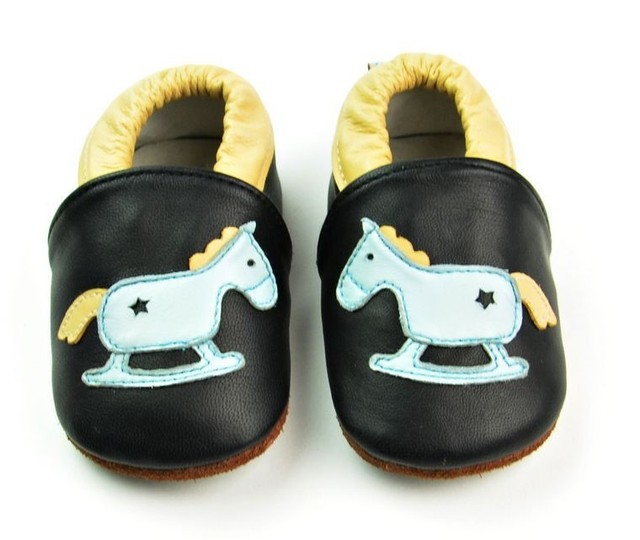 New designs Genuine Leather Horse Print Baby Boy Moccasins Shoes hard sole Bebe Shoe Anti-Slip Newborn First Walker Kids Shoe