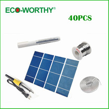 40pcs High power 2 X 6 solar cells +flux+tab wire+bus wire +soldering gun+free shipping