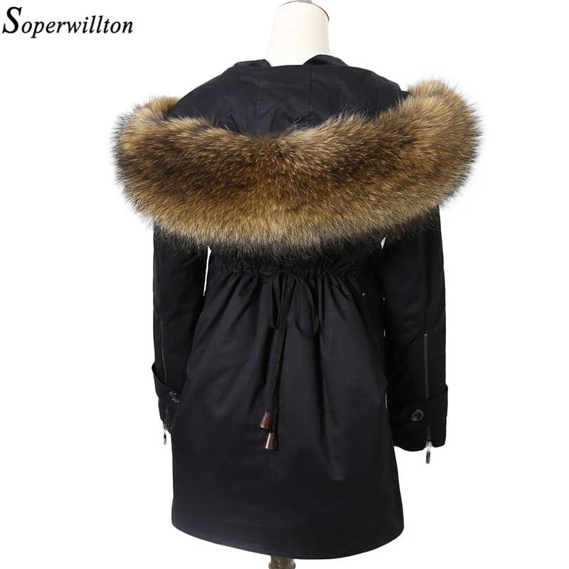 Soperwillton 2017 Winter Jackets Women Fur Coat Luxury ...