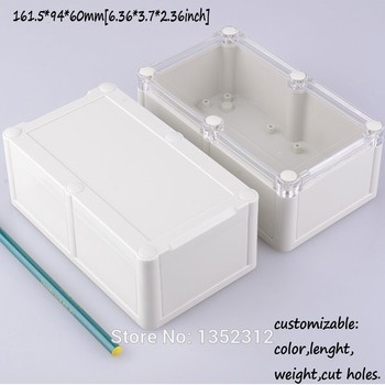 5 pcs/lot 161.5*94*60mm IP68 small PLC enclosure plastic box for electronic project IP68 waterproof outlet box junction case